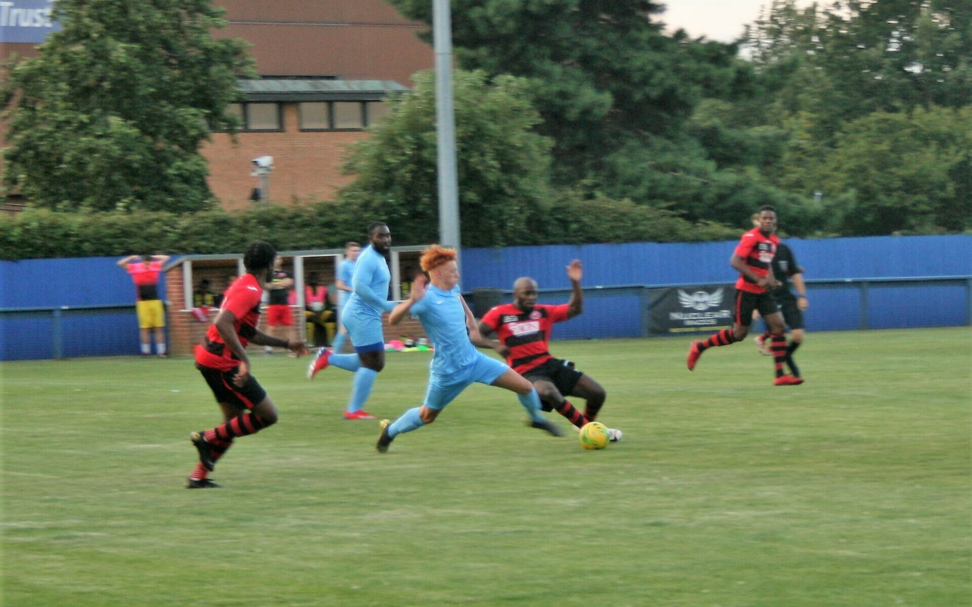 BLUES HIT FOUR IN FIRST WIN Featured Image